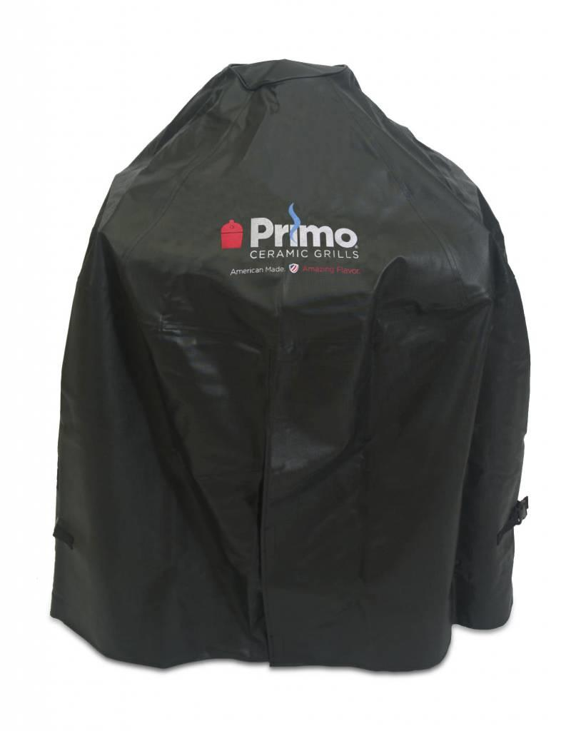 Primo Ceramic Grills Primo Grill Cover for Oval LG 300, Kamado or Oval JR 200 with Heavy Duty Cart