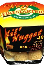 Lightning Nuggets Lil' Nuggets Box of 40 BBQ Fire Starters