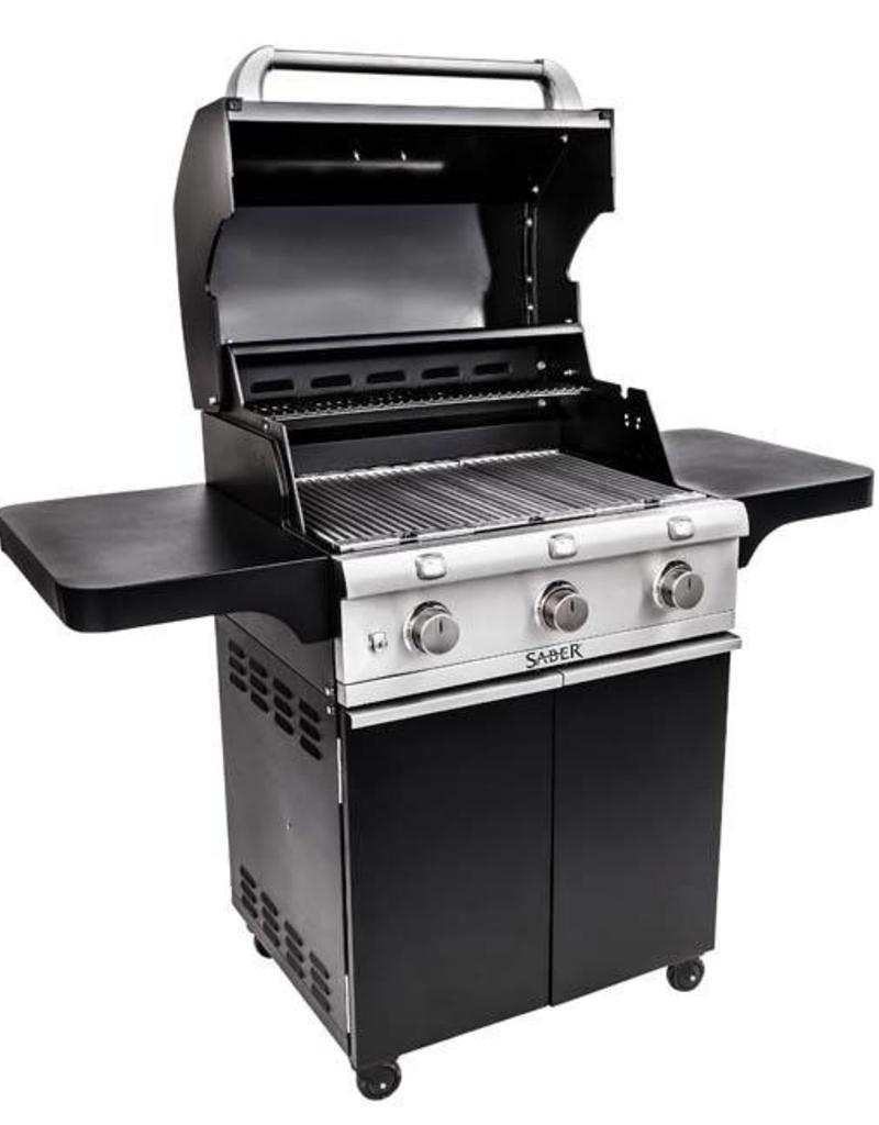 Saber Grills SABER 500 3 Burner Cart Grill - Cast Black - LP