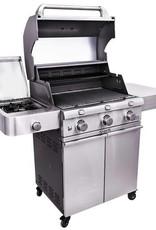 Saber Grills SABER 500 3 Burner Cart Grill with Side Burner - Cast and Stainless - LP