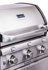 Saber Grills SABER 500 3 Burner Cart Grill with Side Burner - Cast and Stainless - LP
