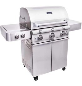 Saber Grills SABER 500 3 Burner Cart Grill with Side Burner - Stainless Steel - LP