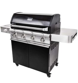 Saber Grills SABER 670 4 Burner Cart Grill with Side Burner - Cast Black - LP