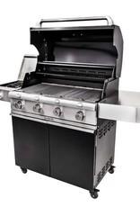Saber Grills SABER 670 4 Burner Cart Grill with Side Burner - Cast Black - LP