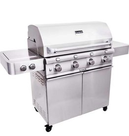 Saber Grills SABER 670 4 Burner Cart Grill with Side Burner - Stainless Steel - LP