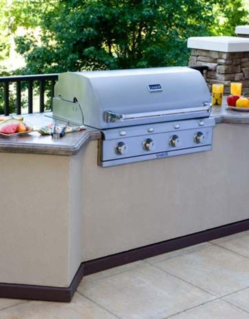 Built In Grill: SABER 670 4 Burner Stainless Steel Built-In Grill