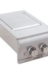 Saber Grills SABER Dual-Control Built-In Side Burner - Natural Gas
