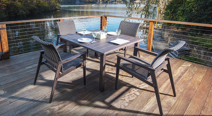 Horizon Woven Wicker Dining Set