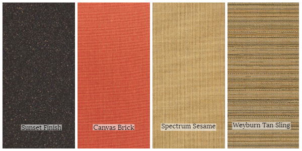 Portica Riva Collection Frame and Fabric Swatches