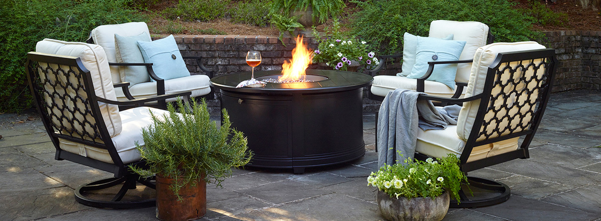 Portica Seville Outdoor Seating with Fire Table
