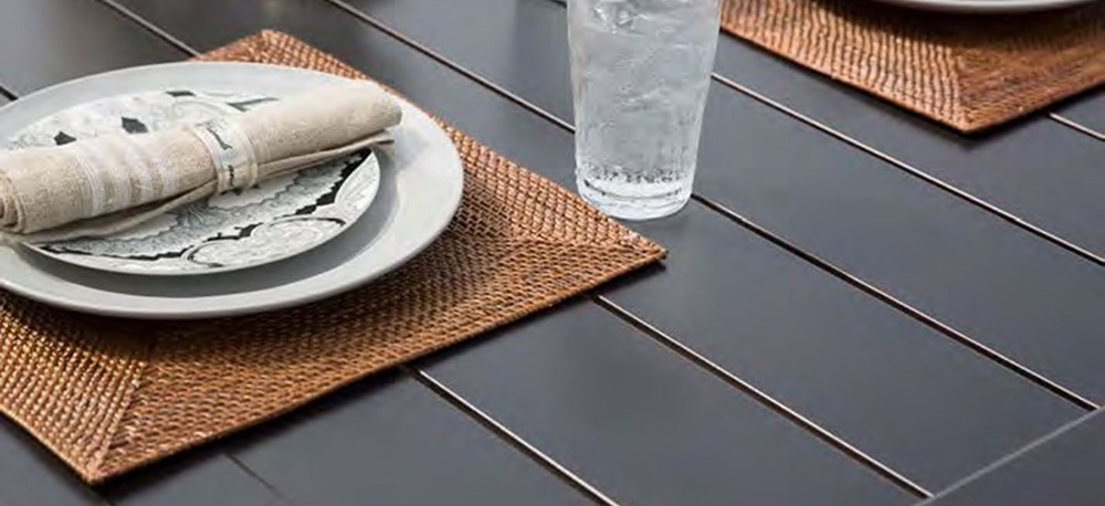 Portica Slat Aluminum Outdoor Patio Tables