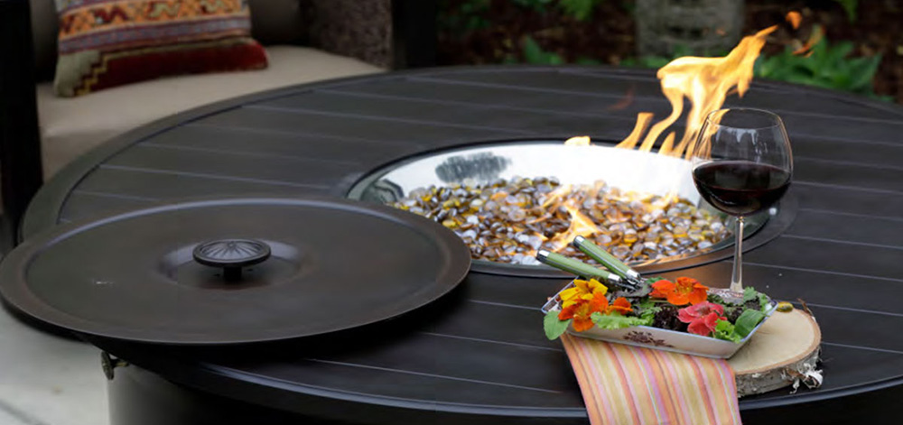 Portica Outdoor Fire Table Lifestyle