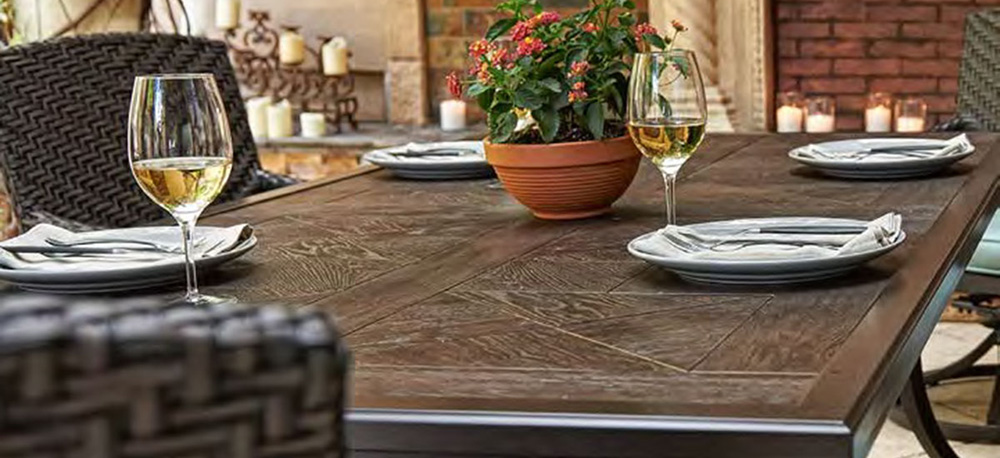 Portica Faux Wood Outdoor Patio Furniture Tables
