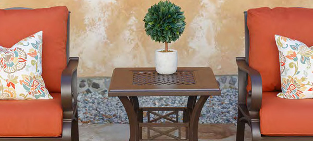 Portica Traditional Cast Aluminum Dining Tables