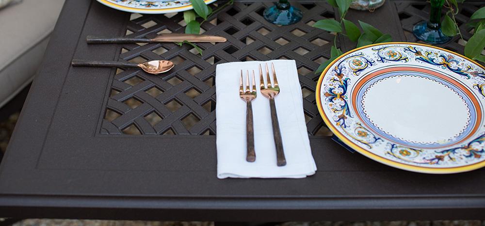 Portica Outdoor Cast Tables