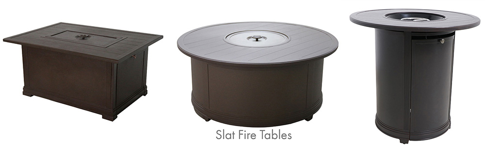 Portica Outdoor Slat Fire Tables