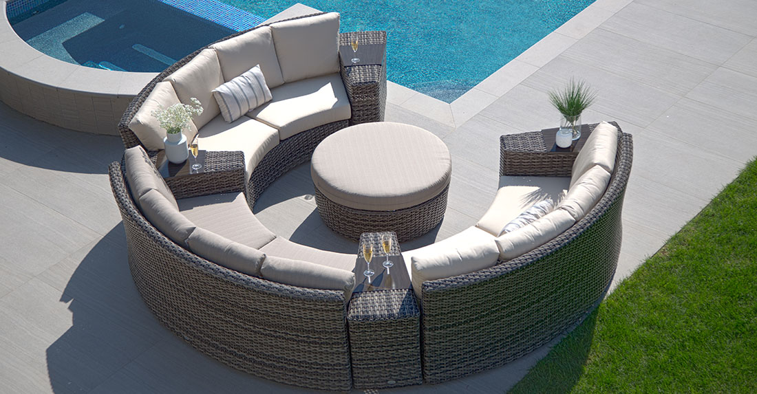 Ratana Portfino Sectional Outdoor Seating Lifestyle