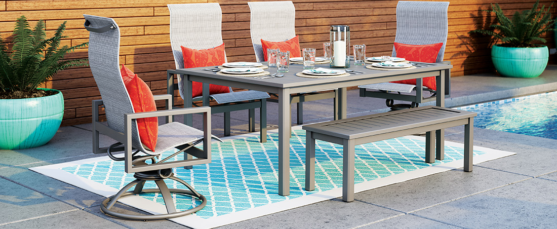 Homecrest Sutton Outdoor Patio Dining Set