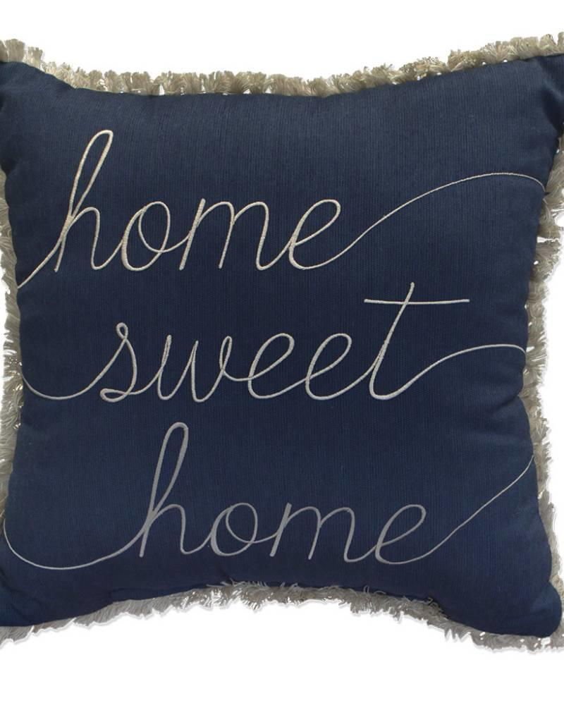 Inspired Visions Inspired Visions 18 x 18 Inch Home Sweet Home Outdoor Pillow in Sunbrella Spectrum Indigo