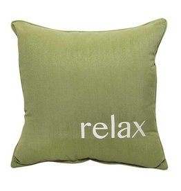 Inspired Visions Inspired Visions 18 x 18 Inch Relax Outdoor Pillow in Sunbrella Spectrum Cilantro