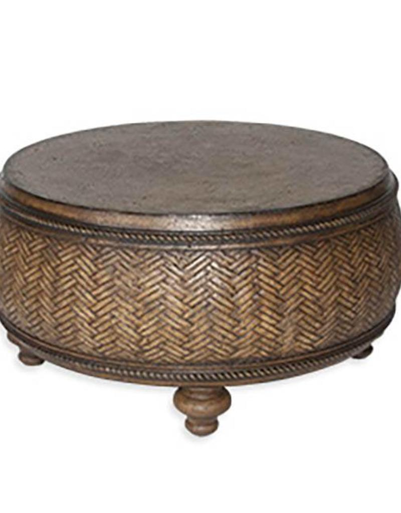 Inspired Visions Inspired Visions Bryson Cast Stone 32 Inch Round Coffee Table