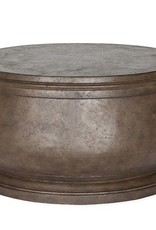Inspired Visions Inspired Visions Hudson Cast Stone 32 Inch Round Coffee Table in Cappuccino
