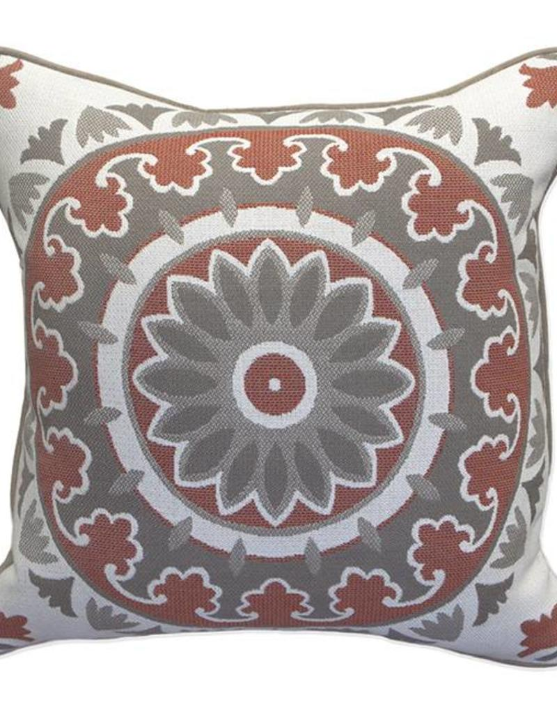 Inspired Visions Inspired Visions 16 x 16 Inch Kenza Medallion Outdoor Pillow in Kenza Sahara