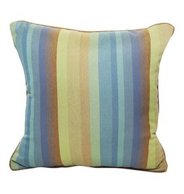 Inspired Visions Inspired Visions 18 x 18 Inch Outdoor Throw Pillow in Sunbrella Astoria Lagoon
