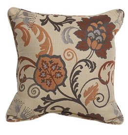 Inspired Visions Inspired Visions 18 x 18 Inch Aura Honey Outdoor Pillow in Sunbrella Aura Honey