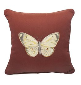 Inspired Visions Inspired Visions 18 x 18 Inch Butterfly Outdoor Pillow in Sunbrella Canvas Henna