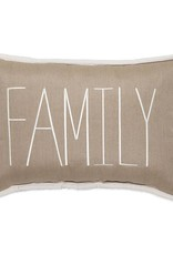 Inspired Visions Inspired Visions 14 x 20 Inch Family Outdoor Pillow in Sunbrella Canvas Heather Beige