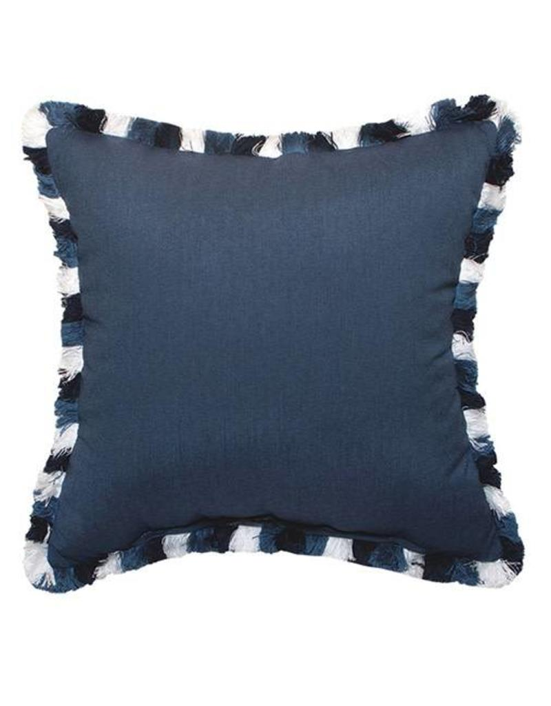 Inspired Visions Inspired Visions 20 x 20 Inch Spectrum Indigo Outdoor Pillow with Colorblock Fringe