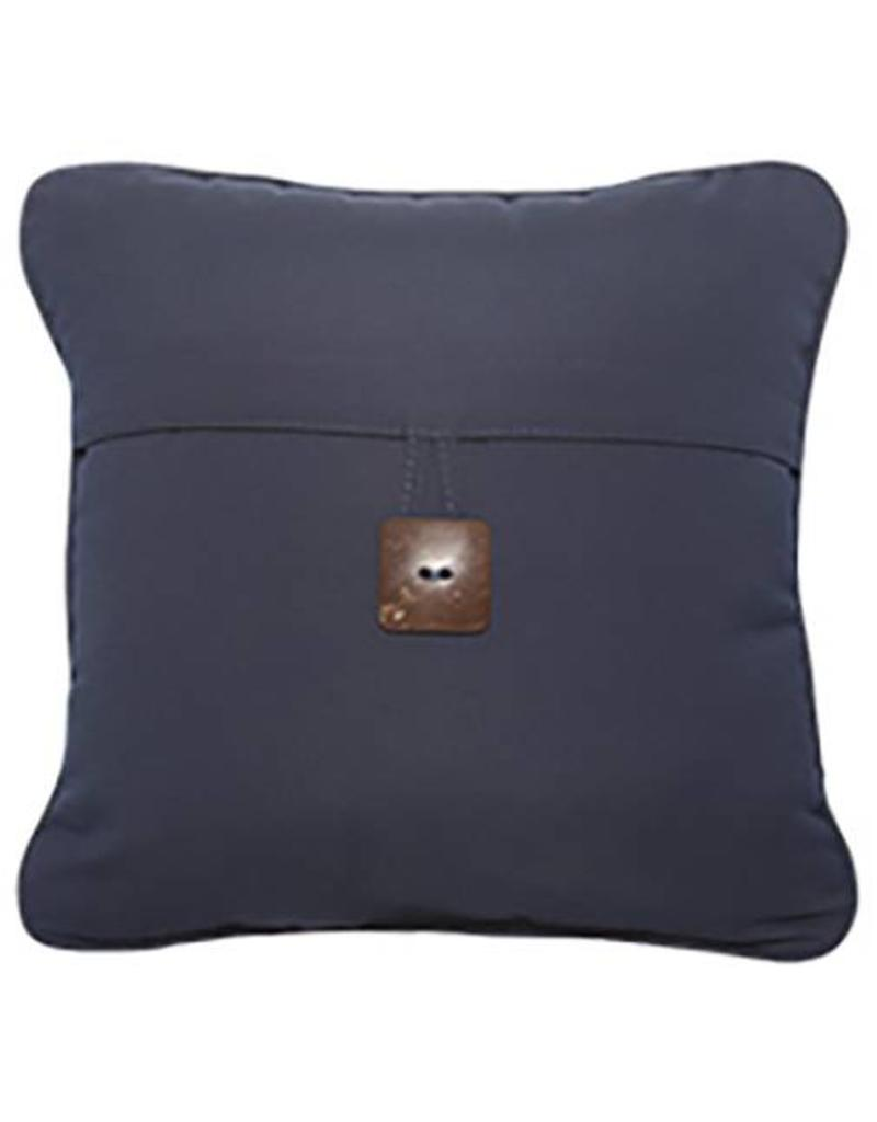 Inspired Visions Inspired Visions 16 x 16 Inch Single Button Outdoor Pillow in Sunbrella Canvas Navy