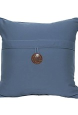 Inspired Visions Inspired Visions 18 x 18 Inch Single Button Outdoor Pillow in Sunbrella Canvas Sapphire