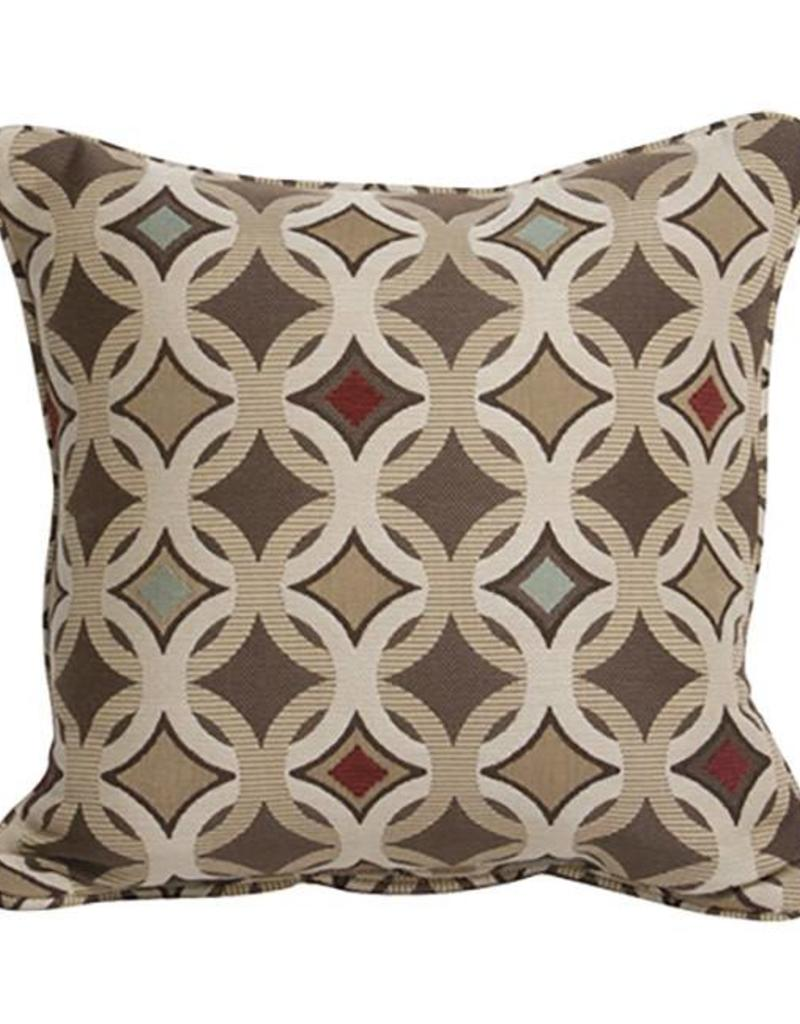 Inspired Visions 16 X Inch Tango Mink Outdoor Pillow In Sunbrella