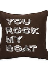 Inspired Visions Inspired Visions 16 x 16 Inch You Rock My Boat Outdoor Pillow in Sunbrella Bay Brown