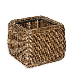 Inspired Visions Inspired Visions All-Weather Wicker 14 Inch Small Woven Basket in Newport Twisted Wicker