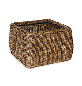 Inspired Visions Inspired Visions All-Weather Wicker 17 Inch Large Woven Basket in Newport Twisted Wicker