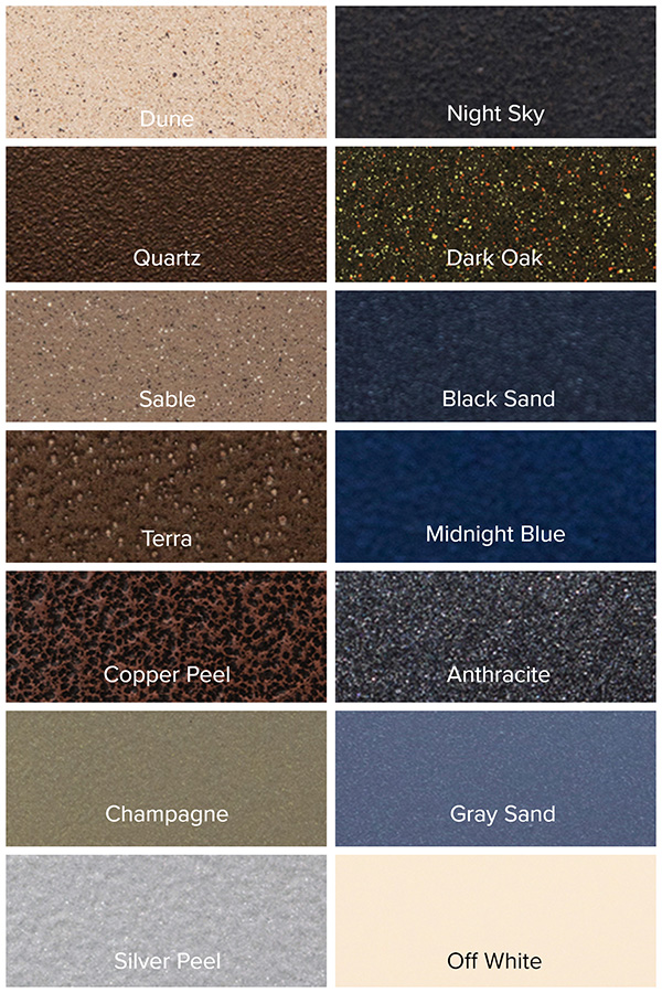 Outdoor by Design Frame Finishes