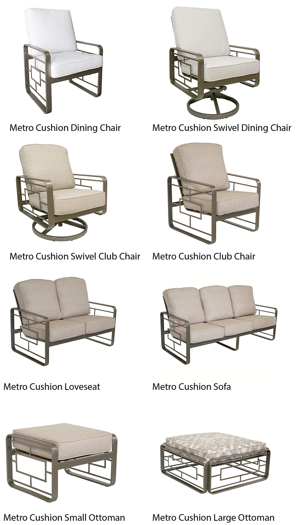 Outdoor by Design Metro Cushion Outdoor Seating and Dining