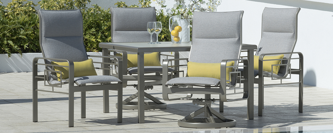 Outdoor by Design Sling Outdoor Dining Set