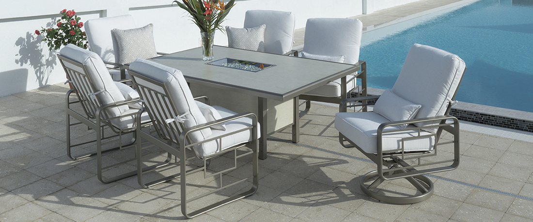 Outdoor by Design Metro Cushion Outdoor Dining Set