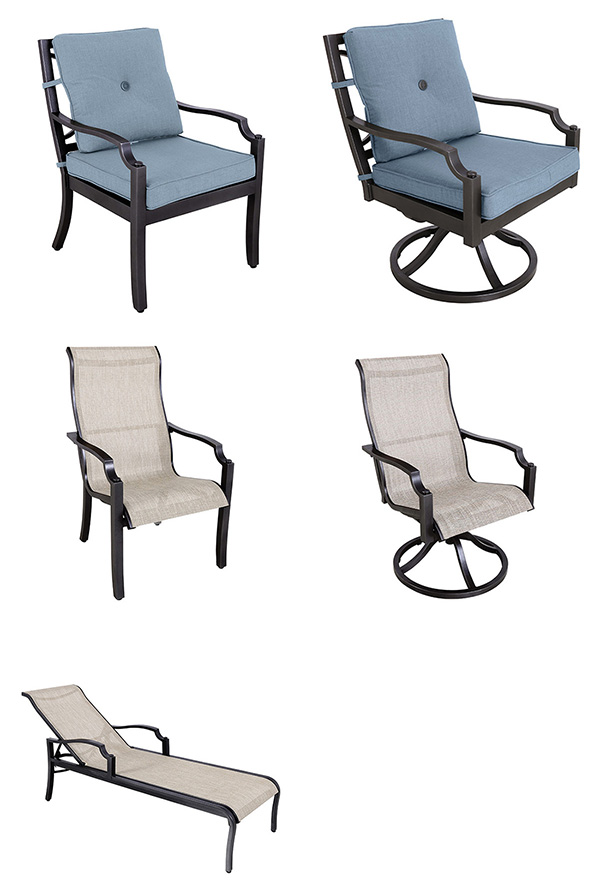 Portica Aragon Cushion and Sling Patio Dining Collection