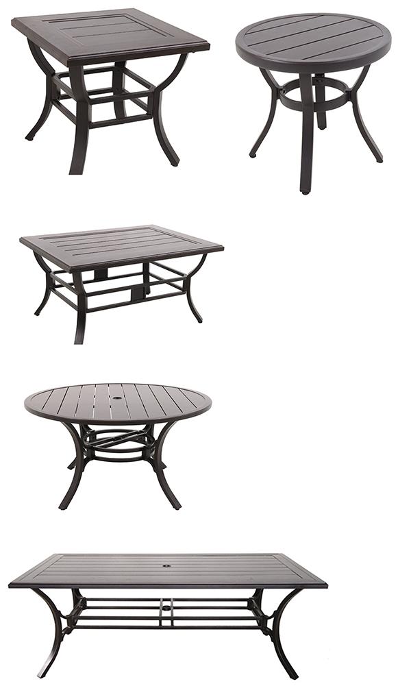 Portica by Sunvilla Center Ring Slat Patio Tables