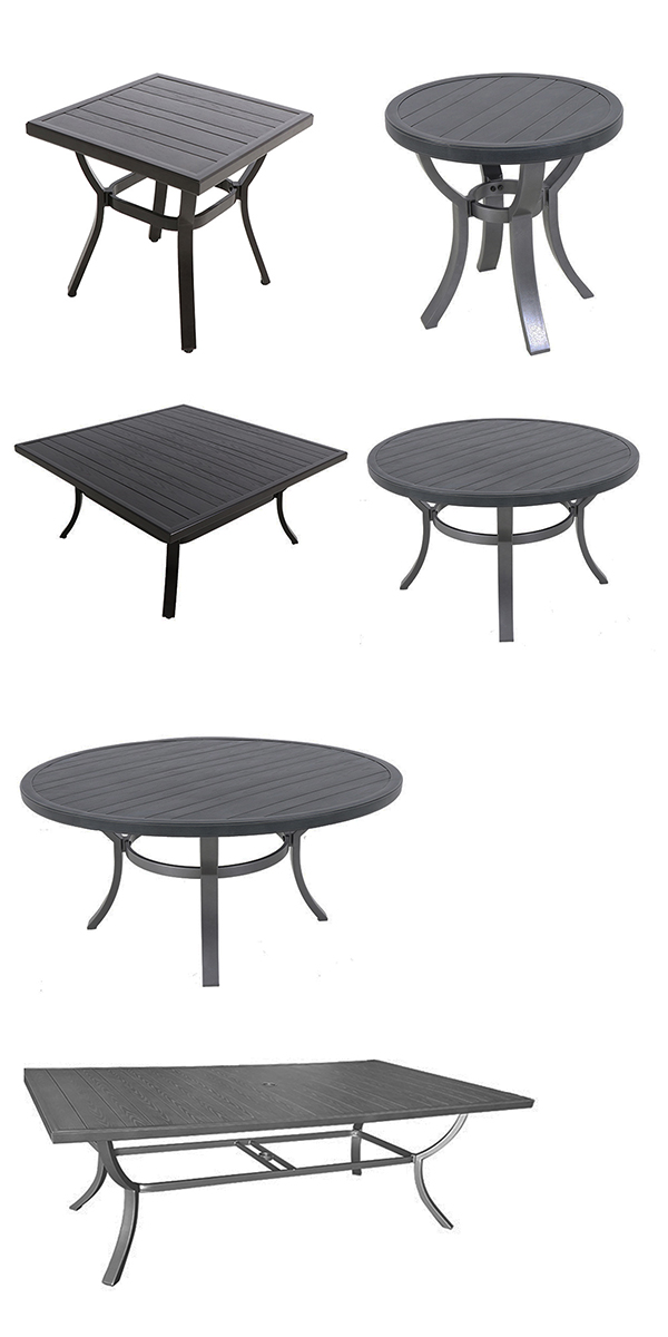 Portica by Sunvilla Faux Wood Patio Table