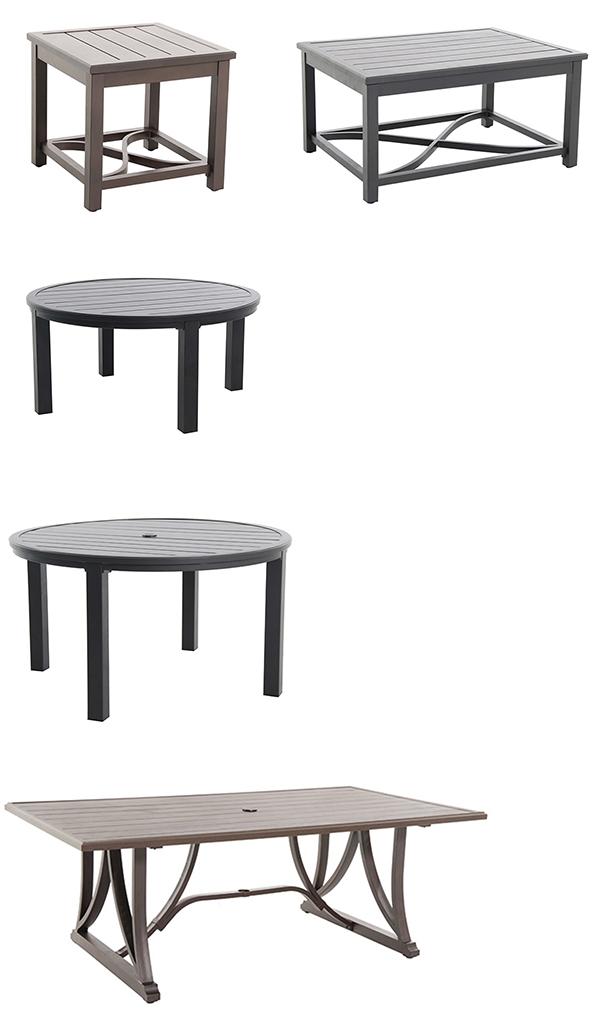 Portica by Sunvilla Post Leg Slat Patio Tables
