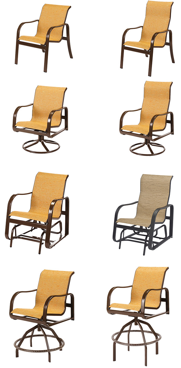 Windward Sonata Sling Patio Dining Furniture