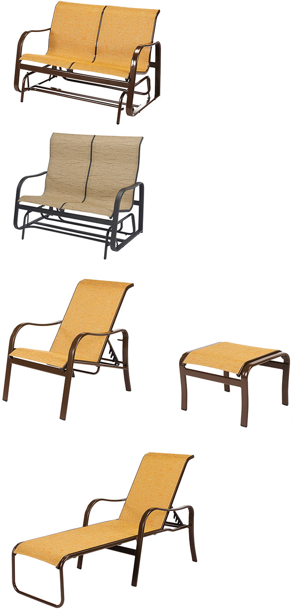 Windward Sonata Sling Glider and Chaise Lounge Patio Furniture