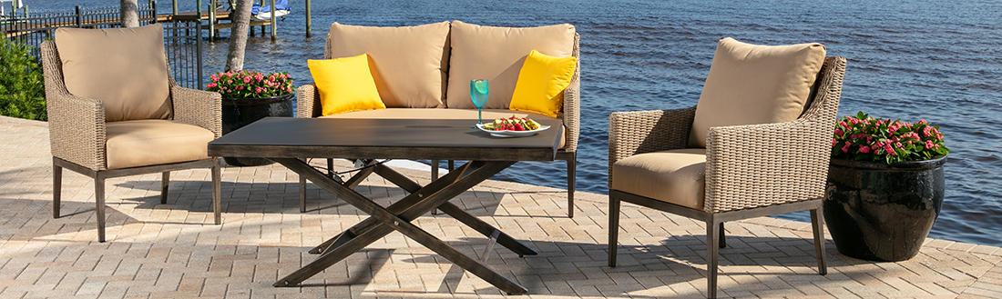 Windward Loft All Weather Wicker Outdoor Seating