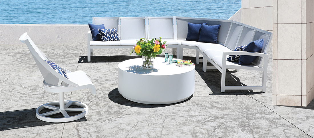 CabanaCoast Millcroft Sling Sectional Patio Furniture